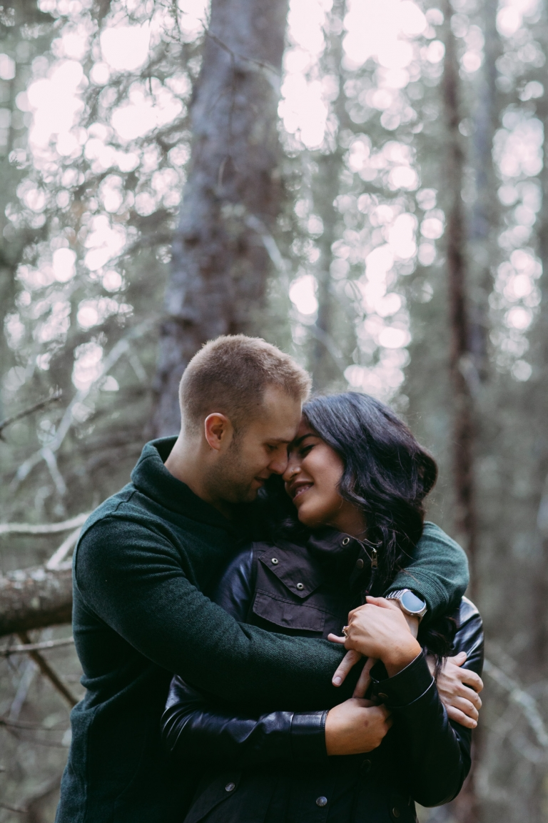 forest couple engagement pictures