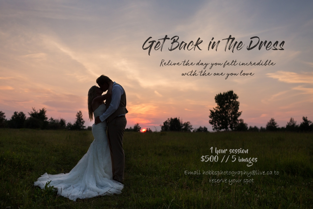 Edmonton brides, put your dress back on and relive the day you felt most beautiful
