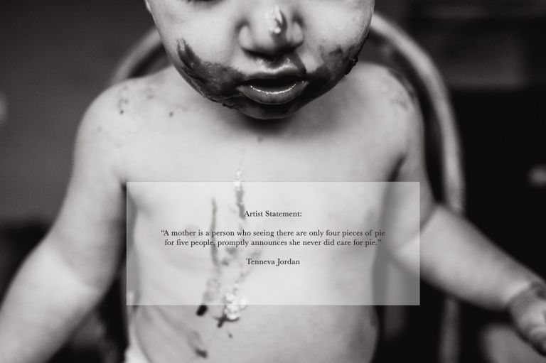 black and white photo overlaid with the quote used as the foundation for this conceptual photography project by Jenna Hobbs