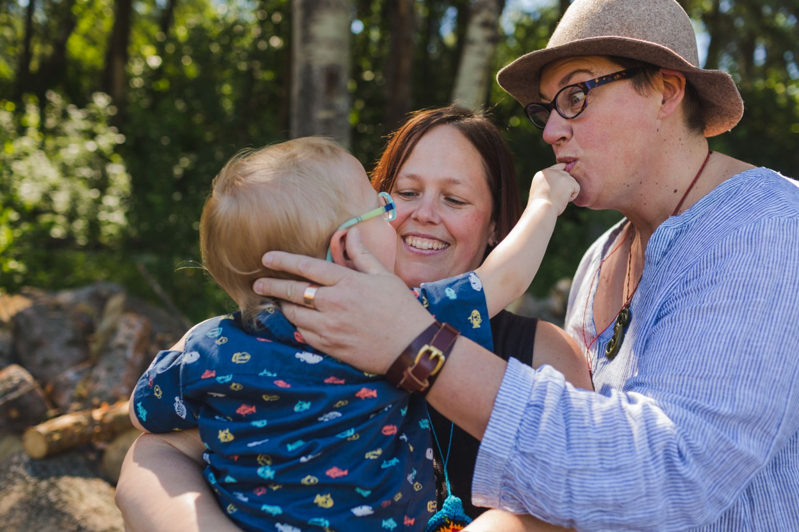 a toddler with his two moms photographed by lgbtp+ friendly Edmonton photographer
