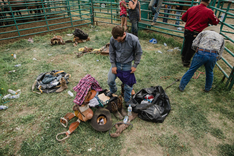 backstage at the rodeo